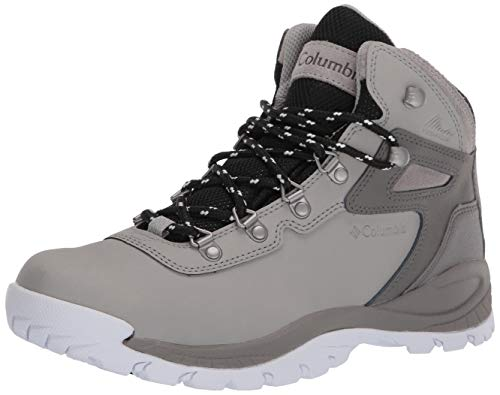 Columbia Women's Newton Ridge Plus Waterproof Hiking Boot, Dove/White, 8 Regular US