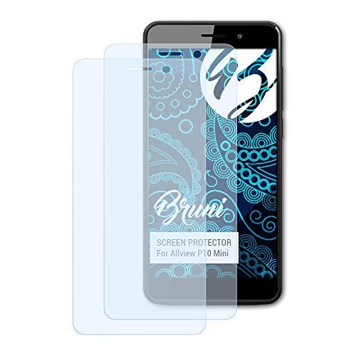 Bruni Schutzfolie kompatibel mit Allview P10 Mini Folie, glasklare Bildschirmschutzfolie (2X)