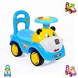 Kinderauto, Rutscher Laufhilfe Super Car lustiges Design, Melodien, Rückenlehne (blau)