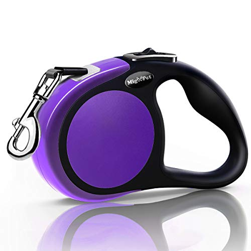 MigooPet Heavy Duty Retractable Dog Leash 16 Foot Walking Leash for Small To Large Dogs Up To 115 Lbs Upgraded Lock System Anit Tangle