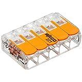 ワゴジャパン WFRシリーズ ワンタッチコネクター ブリスターパック 電線数5本 5個入 WFR-5BP 透明