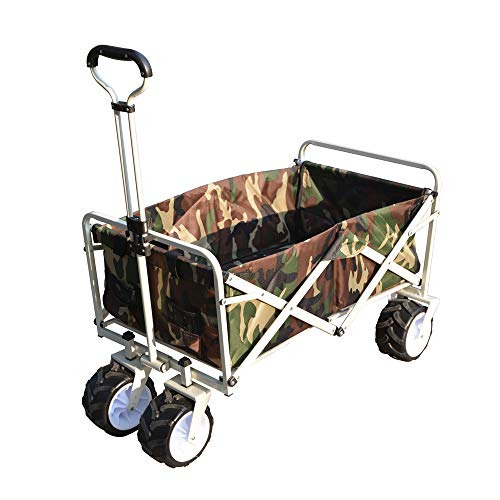 BTM キャリーワゴン 折りたたみ 自立可 超大直径タイヤ 洗える 耐荷重100kg 96L大容量 持ち運び便利 キャリーカート 台車 アウトドア