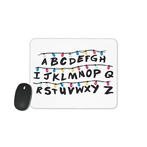 MOBILINNOV Tappetino per Mouse Alfabeto Ghirlanda Ispirato dalla Stranger Things