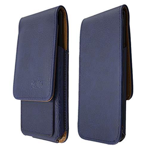 caseroxx Handy Hülle Klappetui kompatibel mit Lenovo Moto G (4. Gen) Plus, Smartphone Tasche (Klappetui in blau)