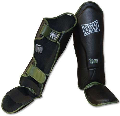 Ring to Cage Platinum GelTech MMA Muay Thai Shin Guard (X-Large)