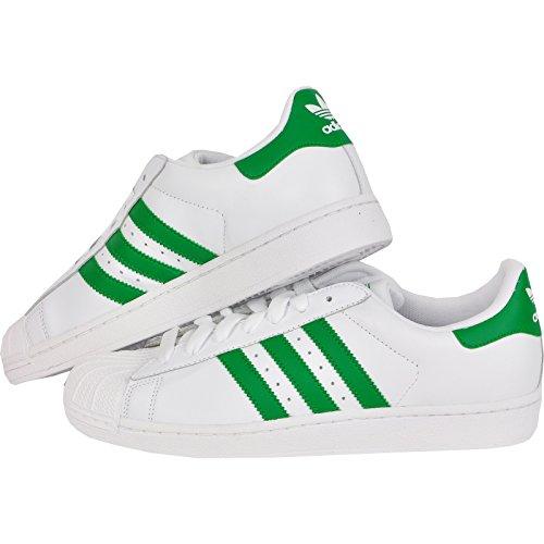 adidas Originals Superstar 2 II W Herren Sneaker Schuhe ÜBERGRÖSSEN Weiss GRÜN, Farbe:Weiß, Schuhgröße:EUR 55 2/3 / UK 19