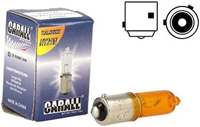 CARALL LA1278 - Lámpara halógena micro coche H21 BAW9s HY21W 12V 21W Naranja Amber pies falsados para flechas