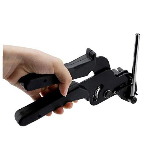Atadura de cables de acero inoxidable pistola y la herramienta de brida de plástico atadura de cables Herramienta para el acero inoxidable Bridas metal cierre de lazo del arma