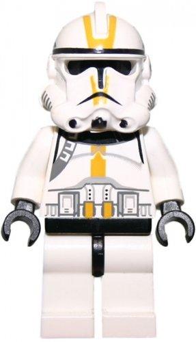 LEGO Star Wars - Minifigur Clone Trooper (Episode 3) mit gelber Kennzeichung