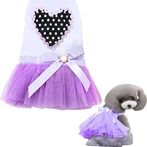 Hundekleid, Haustier Hund Tutu Kleid Rock for Welpe Katze Katze Süße Prinzessin Rock Spitze Kuchen Leibchen Tutu Kleid für kleine mittelgroße Hundekatze für Sommerkleidung