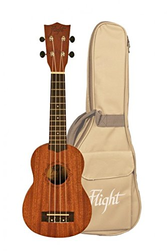 Flight 310 ukelele carpeta con el sello - Natural