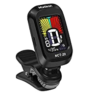 ♪【Simple But Functional Design】- MARTISAN Clip on Guitar Tuner features full color display. The color shown on the screen changing from yellow to red according to the accuracy of the pitch, and the tuner can be easily read with large bright screen (3...
