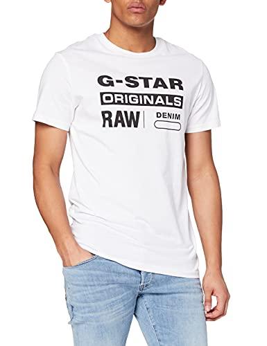 G-STAR RAW Graphic 8 T-Shirt, Weiß (White 336-110), M para Hombre
