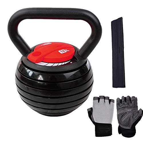 YOUTH BURST Kettlebell Set De Kettlebells Kettlebells Ajustables Kettlebells Inteligentes Ajustables 7 En 1 hasta 18KG Kettlebells Ajustables Dial Home Fitness Gym Equipment (2-9kg / 5-18kg),20LB-B
