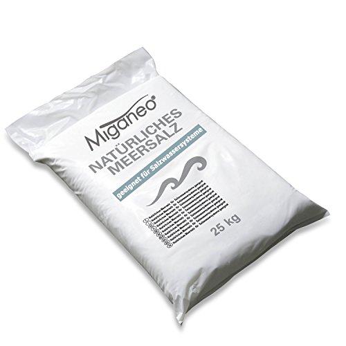 Miganeo 25 kg Salz Meersalz f. Pool Chlorgenerator Reinigung Streusalz Auftausalz Winter