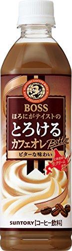 ボス とろけるカフェオレ ビター ペット 500ml×24本