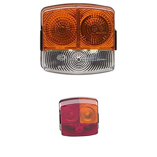 HELLA 2BE 002 776-251 Blinkleuchte, links, 12V, mit Lampenträger und 2SD 002 776-241 Heckleuchte, rechts, 12V