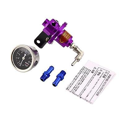 0-140 PSI Adjustable Fuel Pressure Regulator Valve for Automobile Car Refitting with Oil Gauge Gas Hose Kit