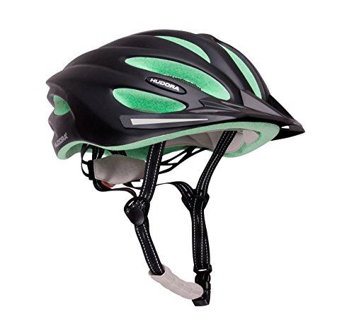 HUDORA Fahrrad-Helm Basalt Damen Herren, Fahrrad-Helm Rad-Helm Gr. 49-52, schwarz/grün