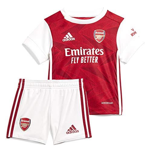 adidas Arsenal FC Temporada 2020/21 AFC H Baby Miniconjunto Primera equipación, Unisex, MARACT/Blanco, 80