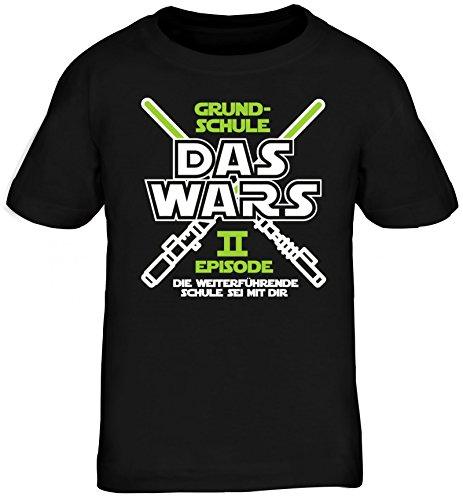 Einschulung 5. Klasse Kinder T-Shirt Laserschwert Grundschule Das Wars - Episode II, Größe: 152/164,schwarz