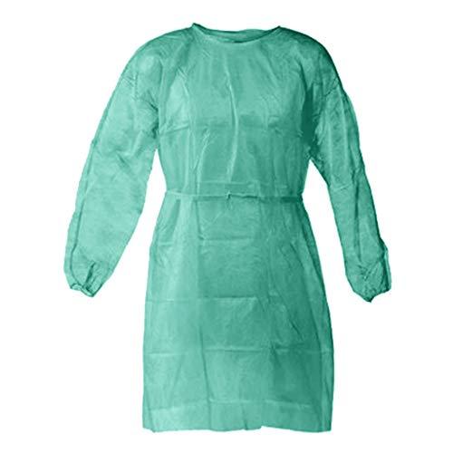 Lucktime 10 Stück/5 Stück Einweg-Schutzkittel, Regenponchos für Erwachsene, wasserdicht atmungsaktiv Anti-Fog Antipartikel