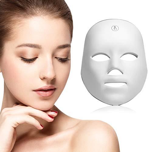 4YANG Mascara led facial profesional 7 colores, Rejuvenecimiento de La piel con...