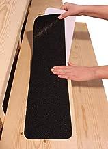 "6""x30"" Stair Treads Non-Slip Outdoor Tape – (10-Pack) Black Anti-Slip Strips"