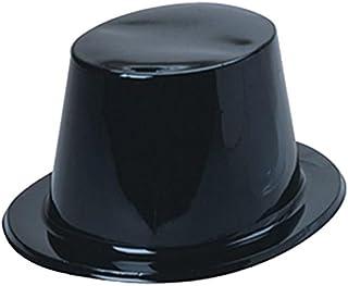 U.S. Toy Plastic Top Hats, Pack of 12, Black
