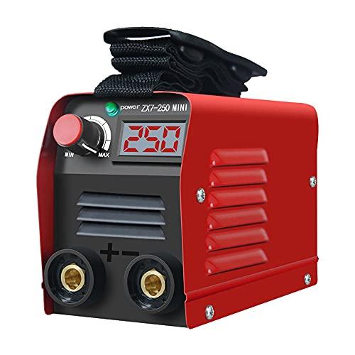 SUQIAOQIAO Mini máquina de Soldadura eléctrica portátiles domésticos, 20-250A Equipo de Soldadura Digital de IGBT Ajustable de 20-250A con Pantalla LED