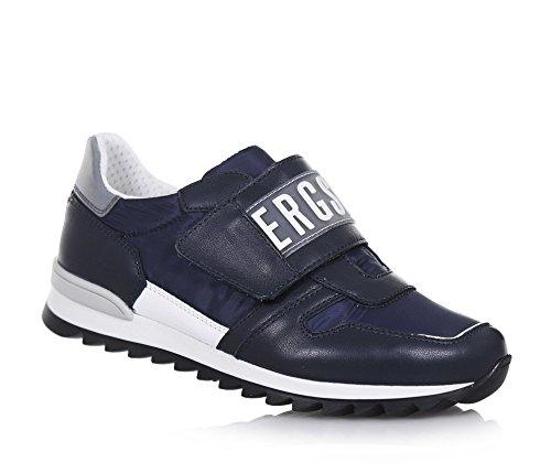 BIKKEMBERGS BIKKEMBERGS - Blauer Schuh aus Leder und Synthetik, mit Klettverschluss, auf dem Verschluss ein Logo, Jungen-32