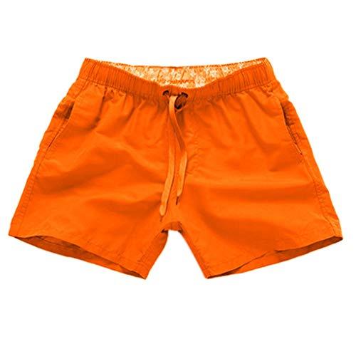 Daysing männer Strandhose Pluderhose Herren Wollhose Herrenhosen Quiksilver 7 Badeshorts XXXL schwimmshortsbadehose neon orange(Orange,Medium)