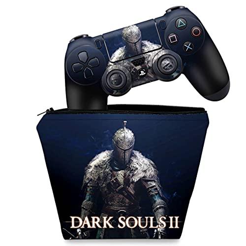 Capa Case e Skin Adesivo PS4 Controle - Dark Souls 2