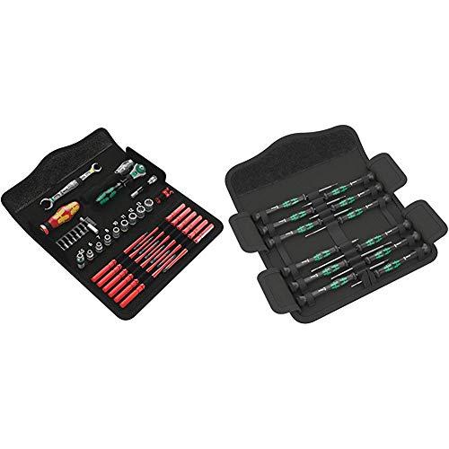 Wera 05135926001 KK W 1 Kraftform Kompakt W1 Wartung, Werkzeug-Set, 35-teilig, Schwarz, Stück & Kraftform Micro Elektroniker Schraubendrehersatz, 12-teilig, 05073675001