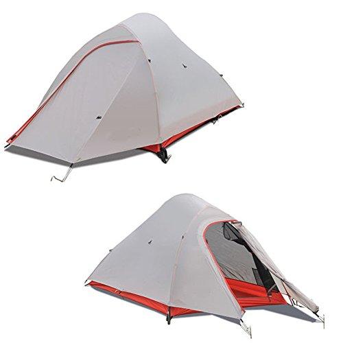 BaiYouDa Backpacking Tent,2 Person Ultralight Tent,4 Season Waterproof Tent, Anti-Lower Temperature,Footprint High