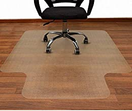 AiBOB 53 x 45 inches Office Chair mat for Hardwood Floor, Easy Glide for Chairs, Flat Without Curling, Polyethylene Floor Mats for Computer Desk