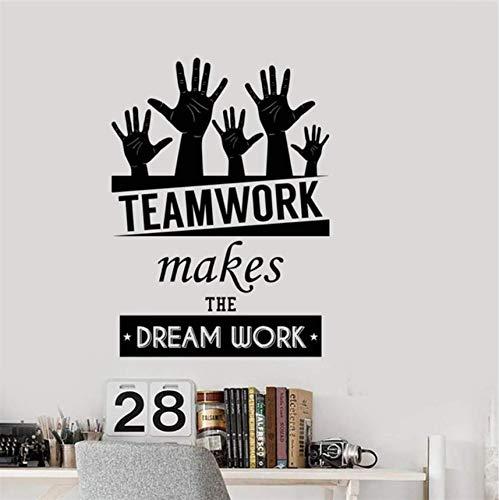Qthxqa Office Inspirational Words Lavoro Di Squadra Dream Work Motivazionali Citazioni Home Design Moderno Art Decor Wall Sticker 58 * 43