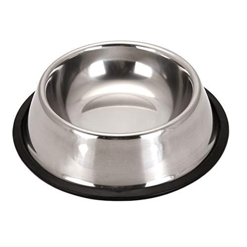 Wulivon Comedero de acero inoxidable para gatos y perros, accesorio esencial para animales domésticos, color plata, XS