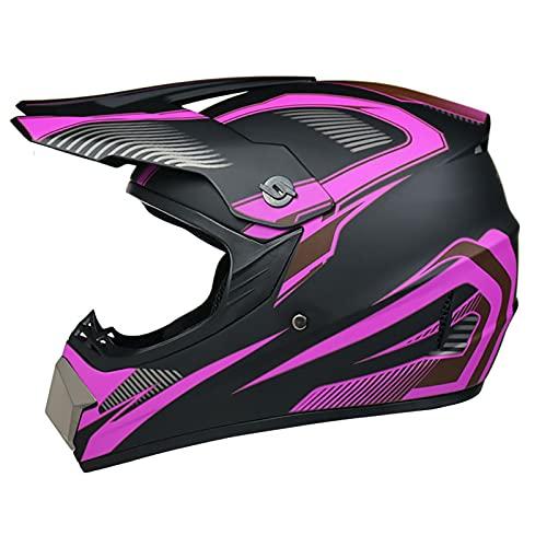 LGLE Casco de motocross para adultos, casco de motocross, máscara de cara completa, para motocicleta, enduro y motocicleta, ATV Downhill Crash, casco de MTB para jóvenes, hombres, mujeres, C, XL