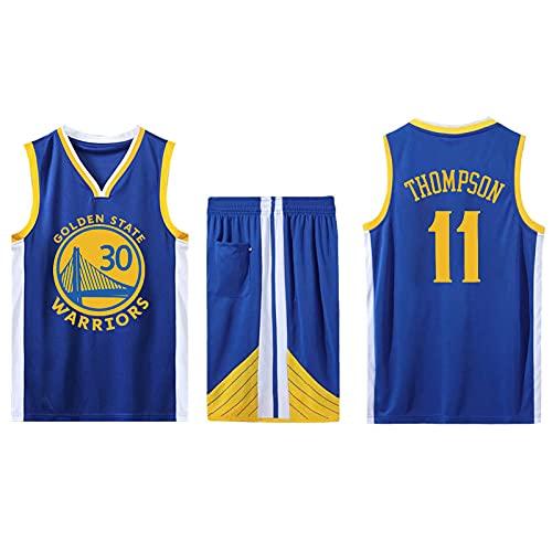EFXCHSY Conjunto de 2 piezas de camiseta sin mangas de entrenamiento de baloncesto y pantalones cortos Traje de camiseta Pantalones cortos deportivos Golden State Warriors Jerseys + Pantalon