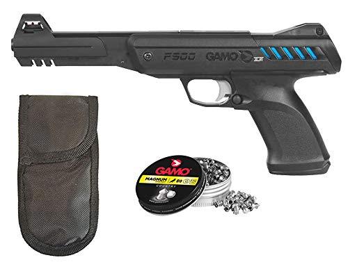 Tiendas LGP - Gamo - Pack Pistola Aire Comprimido P-900 IGT, Pistola perdigones Potencia de 3,5 Julios, 4,5 mm, Velocidad de Salida 120 m/s, Longitud 32 cm. + Funda Portabalines + 250 Balines