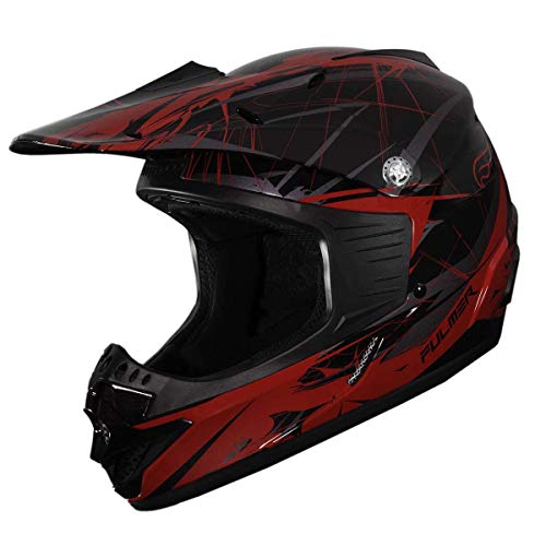 Fulmer, 2501023, Youth Blitz MX Helmet - DOT Approved - Red, Medium
