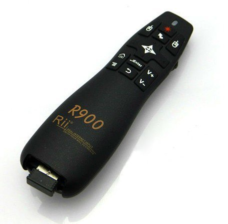 Rii Mini R900 Wireless - Control Remoto con ratón giroscopico para Smart TV, Mini PC, Consolas de Juegos (PS3 - Xbox 360), PC (Windows - Mac - Linux)