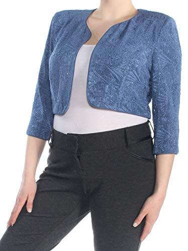 Alex Evenings Damen Long Side Ruched Dress W/Bolero (Petite and Regular Sizes) Kleid für besondere Anlässe, blauviolett, 46
