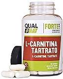 L-Carnitina Tartrato Cápsulas |Suplemento Natural| Potente-90 Cápsulas- Qualnat