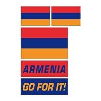 アルメニア共和国 フェイスシール 国旗&メッセージ 3種5枚セット