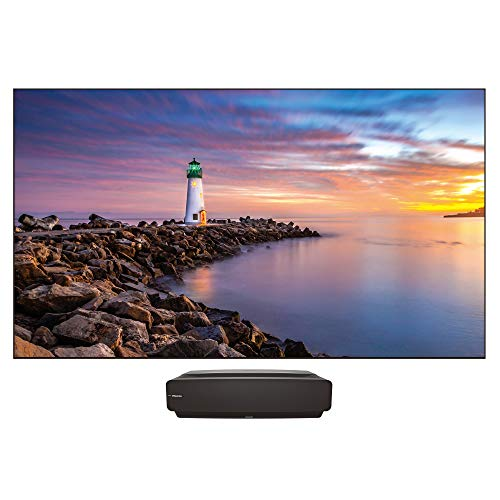 """Hisense 120L5F Laser Cinema 4K Ultra Short Throw Laser Projector with 120"""" ALR Screen   2700 ANSI Lumens   Android TV   HDR10   Built-in Alexa and Google Assistant"""