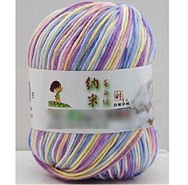 King.MI Leche Suave Suave algodón Natural Mano Tejer artesanías de Lana de bebé de Lana Hilo Bola