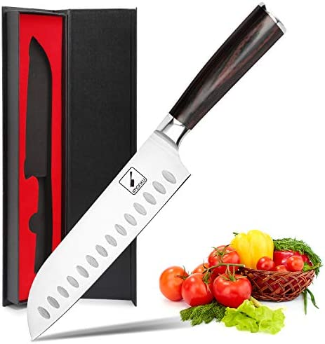 Santoku Knife imarku 7 inch Kitchen Knife Ultra Sharp Asian Knife Japanese Chef Knife German product image