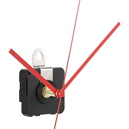 Hicarer 28 mm Langer Schaft Quarzuhrwerk Uhrenteile Reparatur Satz (Rot)